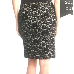 Karen Kane Skirts - Karen Kane Skirt Black/White Lace Print Sexy Chic